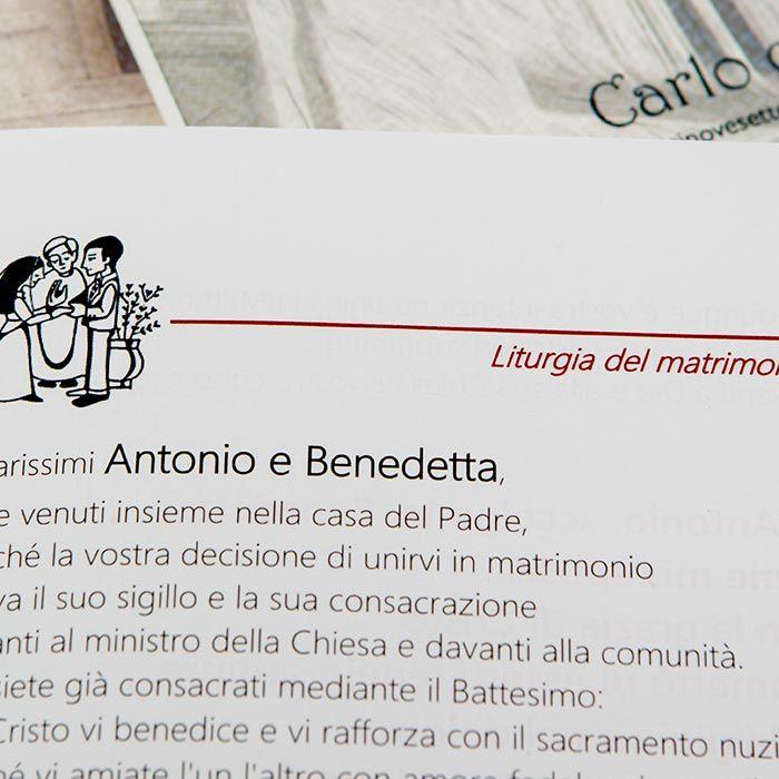 Favoloso Libretti messa matrimonio personalizzabili - Stampe per fotografi SN11