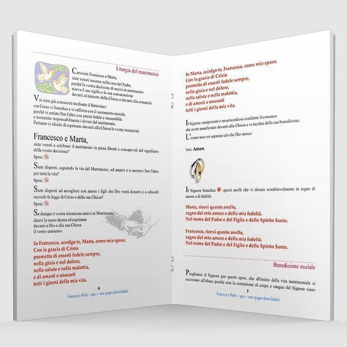 Eccezionale Libretti messa matrimonio personalizzabili - Stampe per fotografi FT56