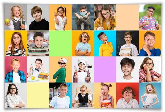 foto di classe ai tempi di covid