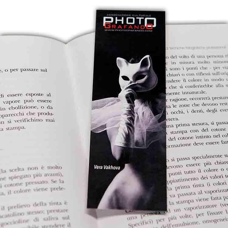 segnalibro personalizzato con foto testo e grafica