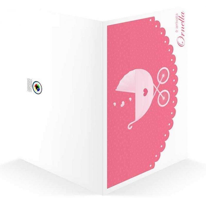 cartoncino portafoto nascita