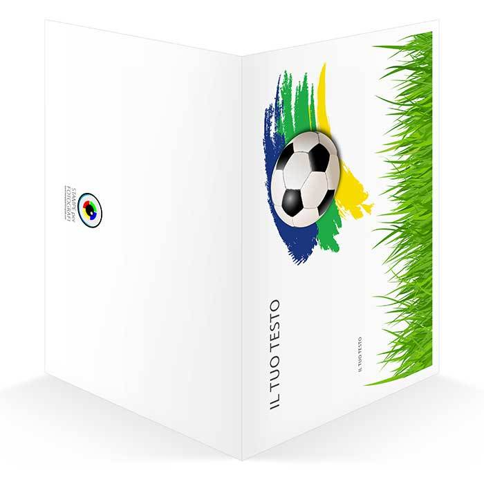 cartoncino portafoto scuola calcio