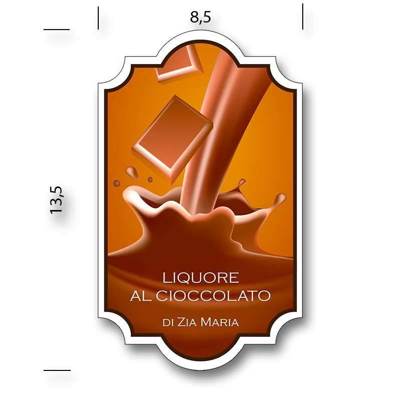etichetta liquore al cioccolato