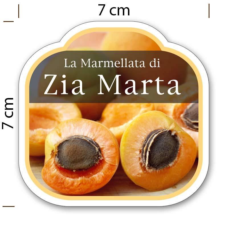 Amato Etichette adesive marmellata - sagomate e personalizzate - poche copie RD72