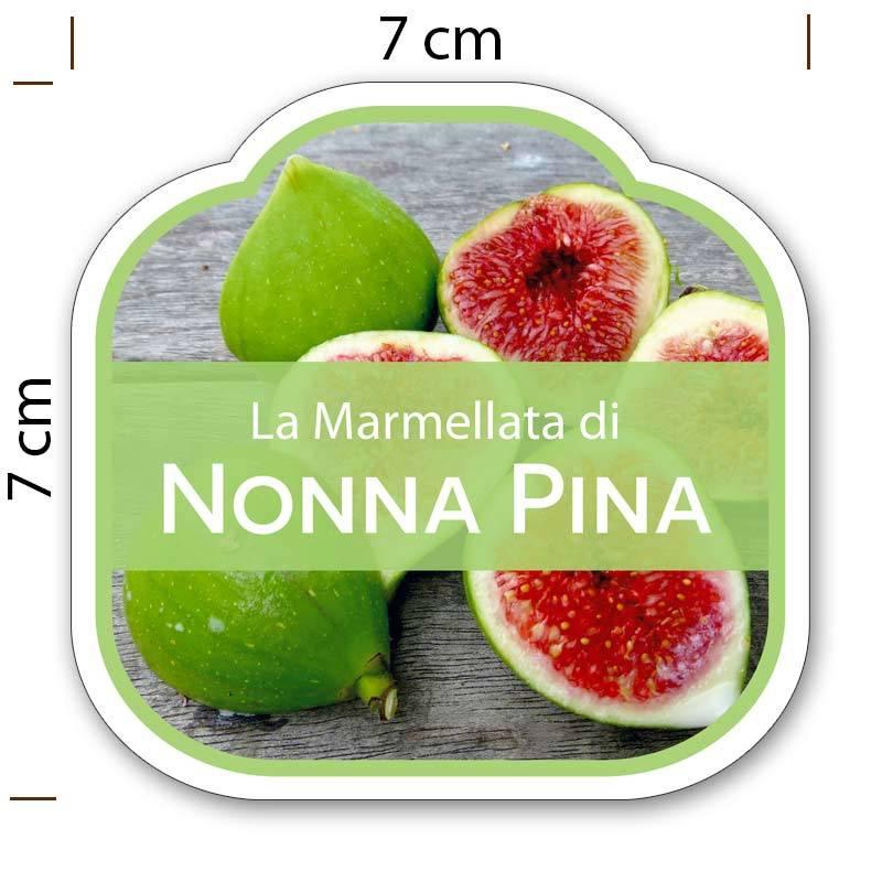 Top Etichette adesive marmellata - sagomate e personalizzate - poche copie UX44