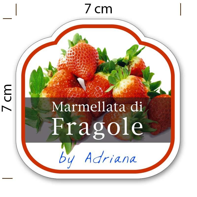 Top Etichette adesive marmellata - sagomate e personalizzate - poche copie RE69