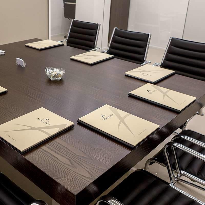 porta blocknotes sala riunioni