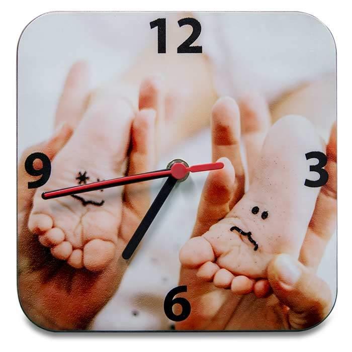 Orologio da parete in legno personalizzabile con foto for Idee per orologio da parete