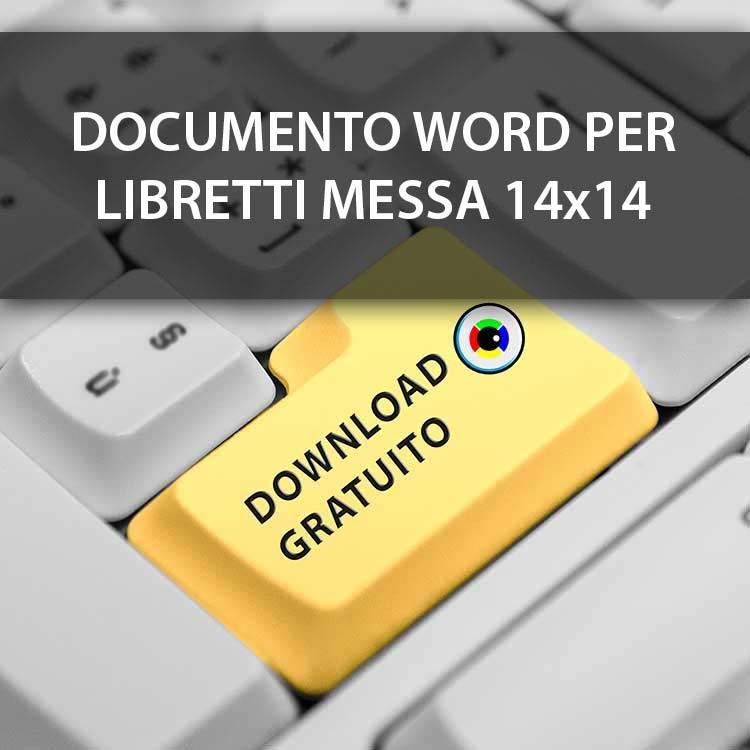 file word libretto messa quadrato