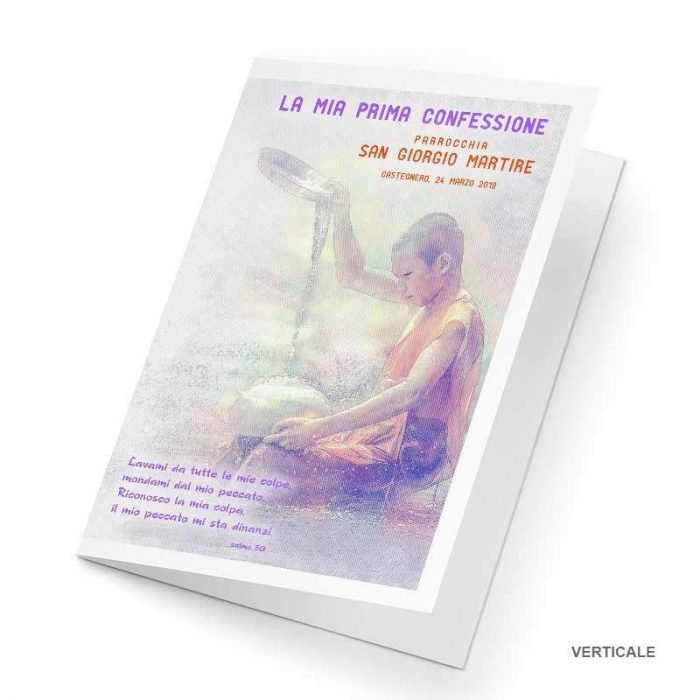 Cartoncino portafoto Prima Confessione