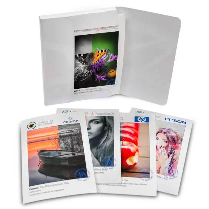 Campioni carte fotografiche e FineArt