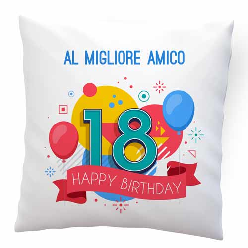 cuscino personalizzabile online 18 anni
