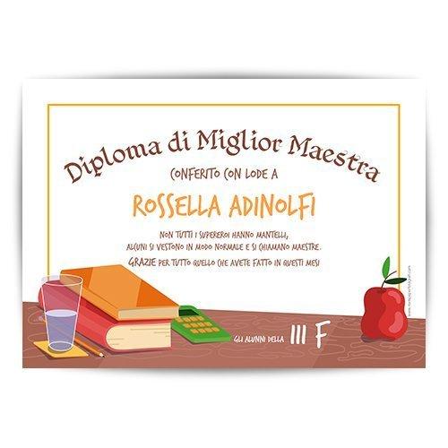 diploma migliore maestra del mondo