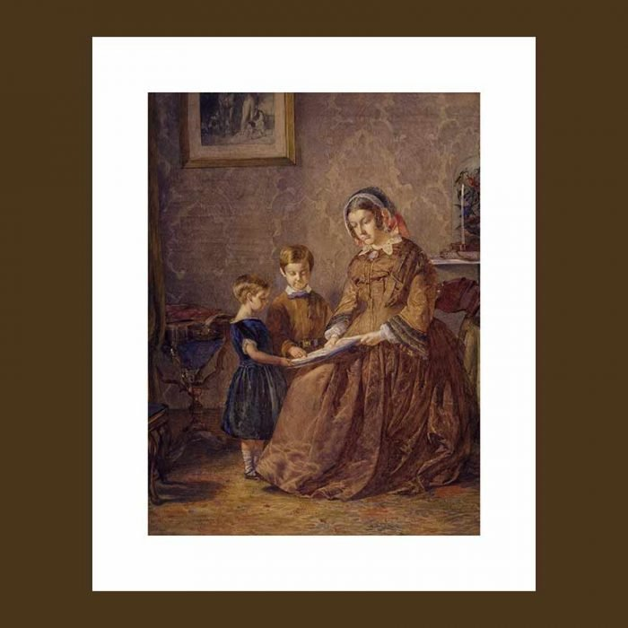 Nanny with children stampe d'arredo