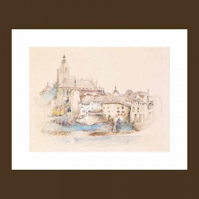 Village on the sea quadro stampe d'arredo