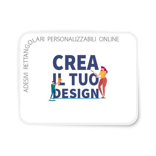 Adesivi rettangolari personalizzabili online