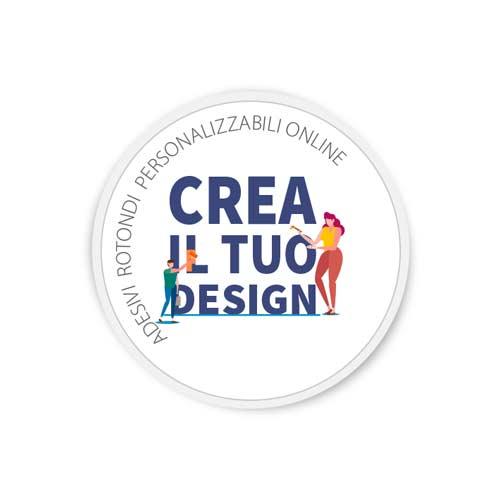 adesivi rotondi personalizzabili online
